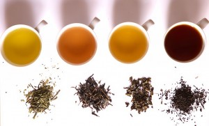 Teesorten und Ihre Farben