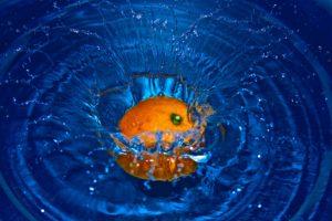 Orange waschen,